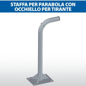 Staffa per parabola con occhiello per tirante