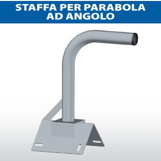 Staffa per parabola ad angolo