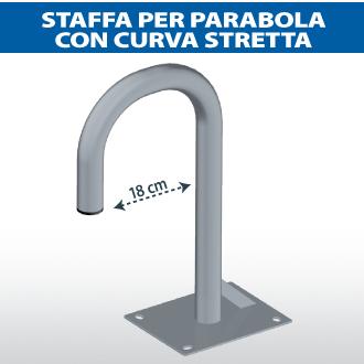 Staffa per parabola con curva stretta