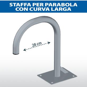 Staffa per parabola con curva larga