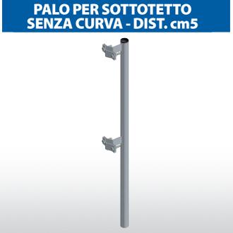 Palo per sottotetto senza curva - dist.cm5